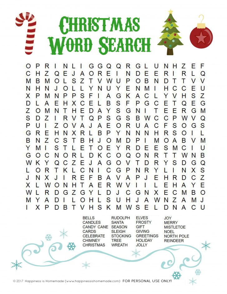 Free Printable Christmas Word Search