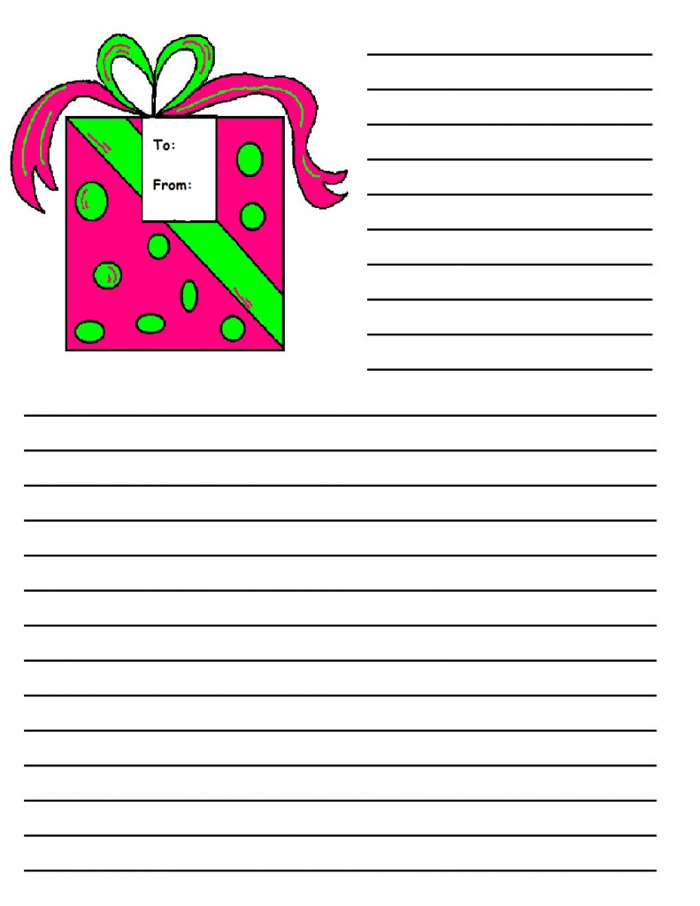 Printable Christmas Writing Paper Templates   Printable Christmas - Free Printable Christmas Writing Paper With Lines