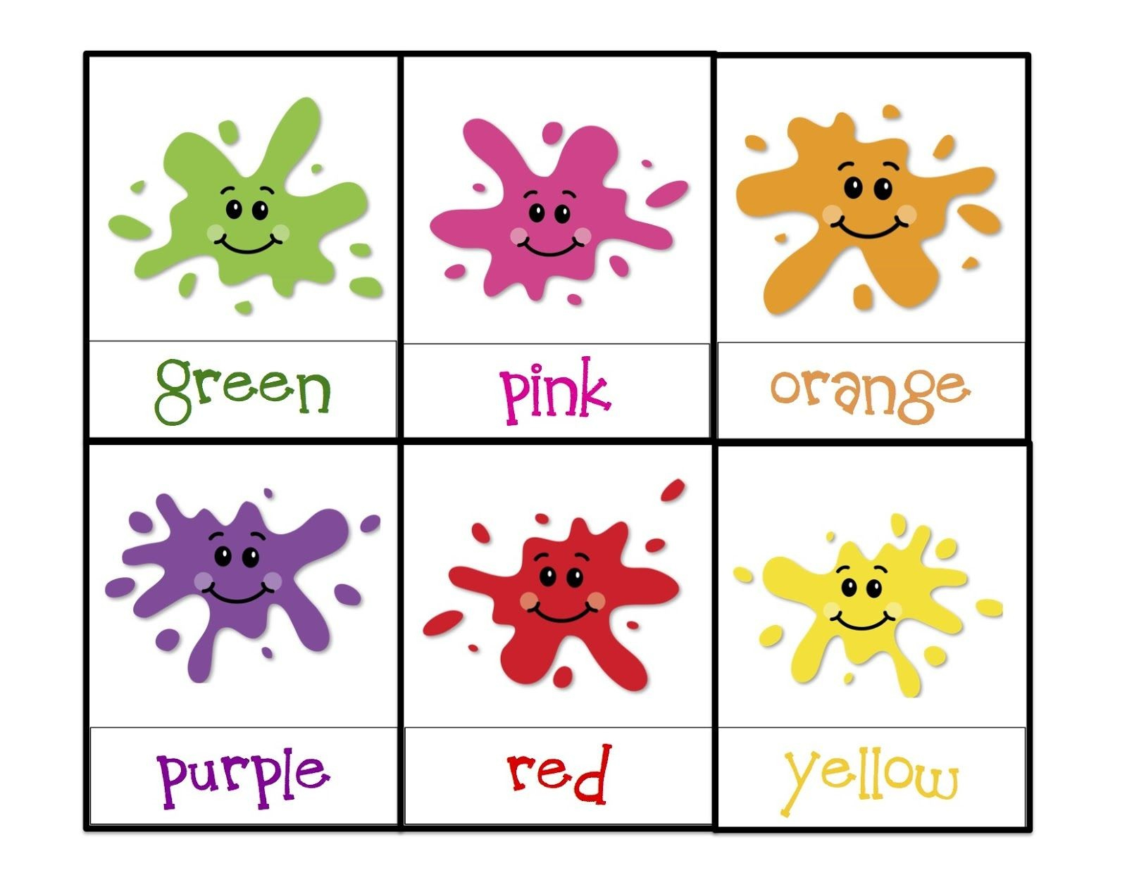 Printable Color Flashcards For Toddlers - Http://cheval-Musique - Free Printable Colour Flashcards