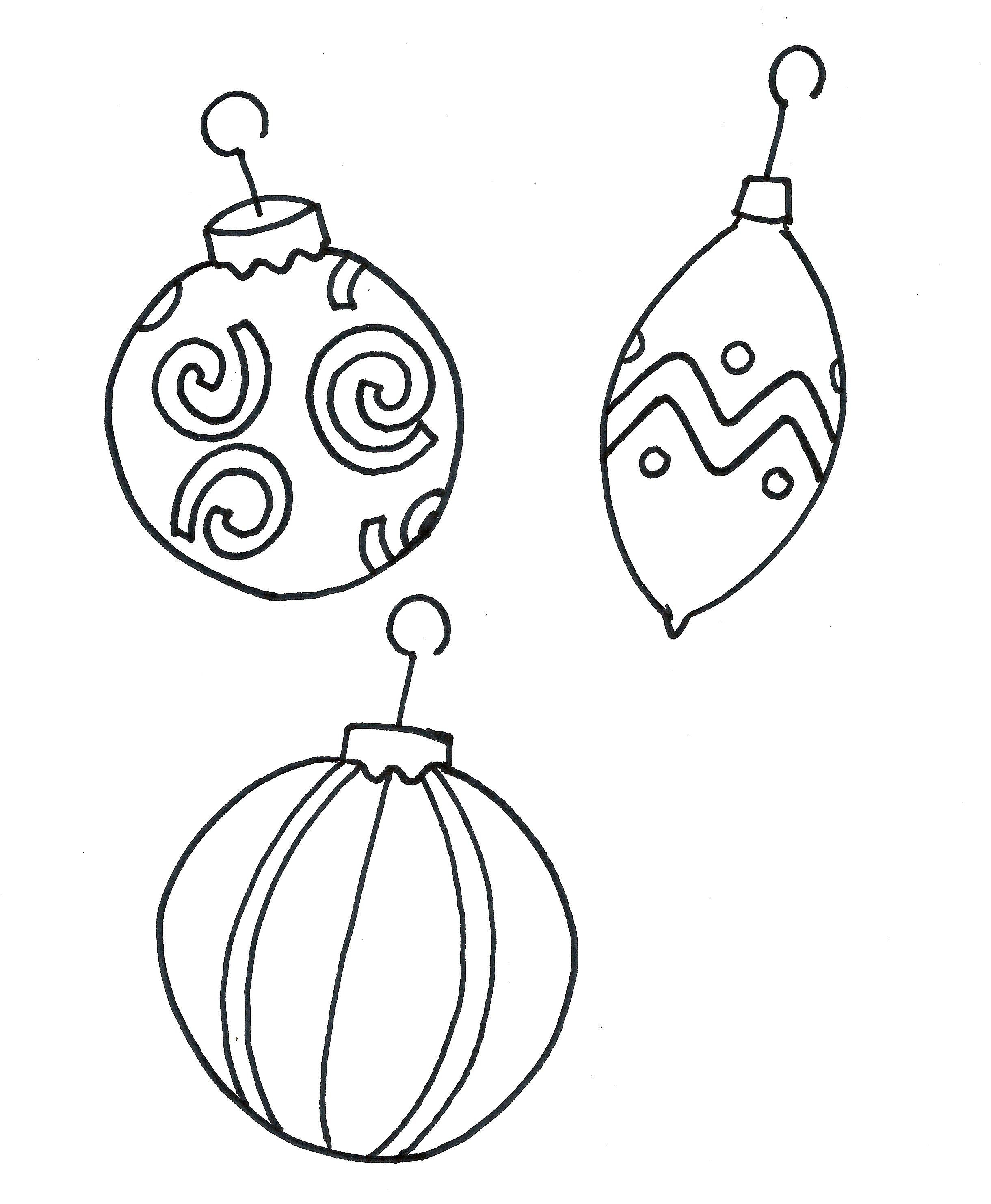 Printable Coloring Pages Christmas Ornament Free | Christmas Crafts - Free Printable Ornaments To Color