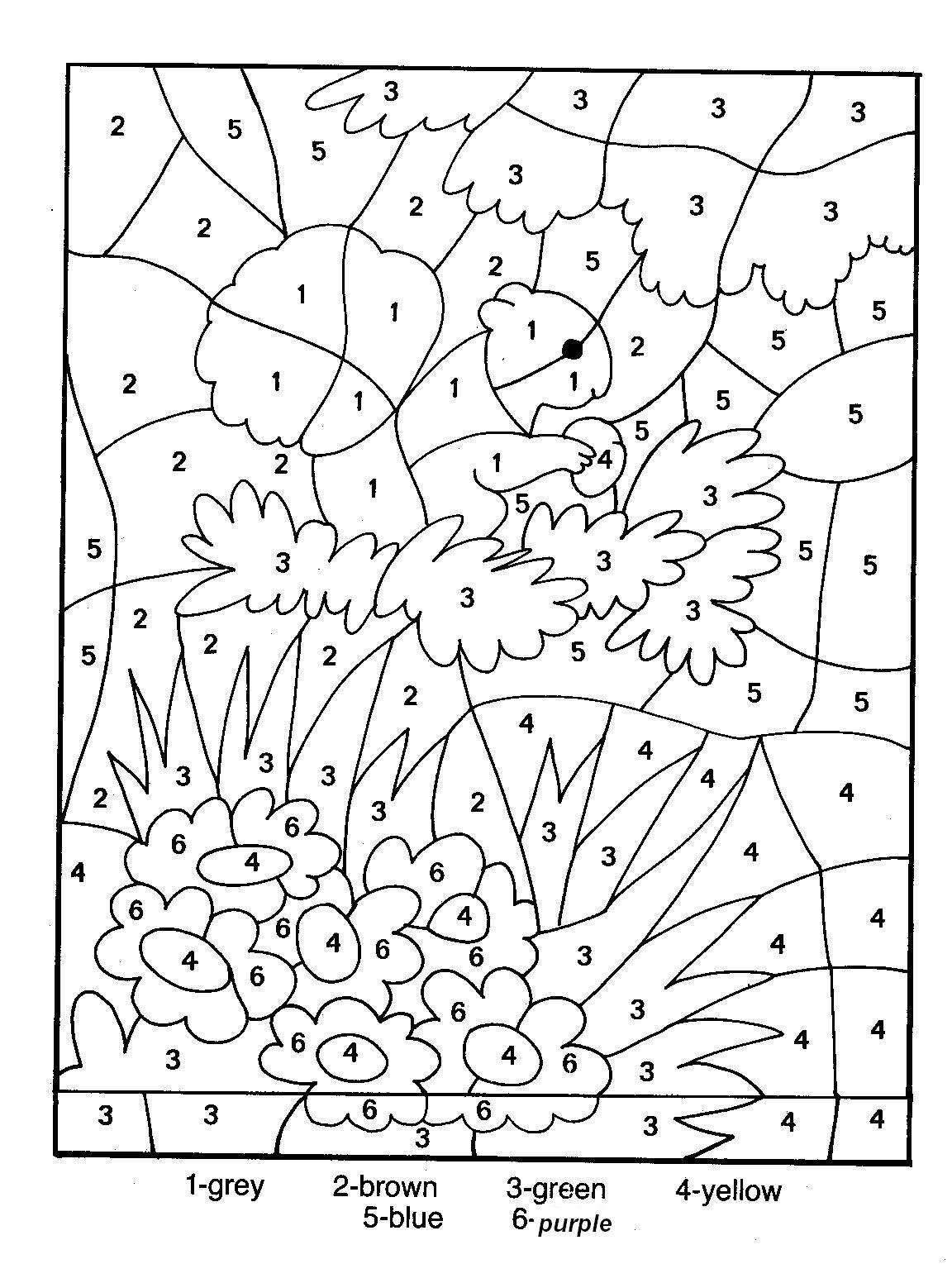 Printable Colornumber For Adults | Colornumber Coloring - Free Printable Color By Number For Adults