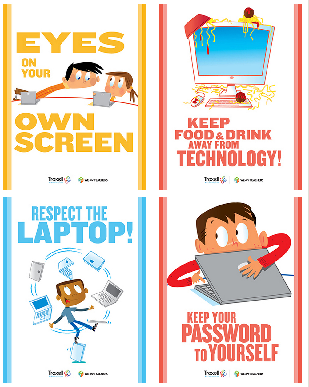 Printable Computer Lab Rules | Www.topsimages - Free Printable Computer Lab Posters