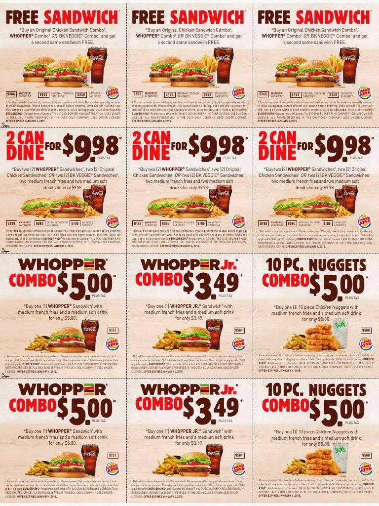 Printable Coupons: Burger King Coupons   Famo   Free Printable - Burger King Free Coupons Printable