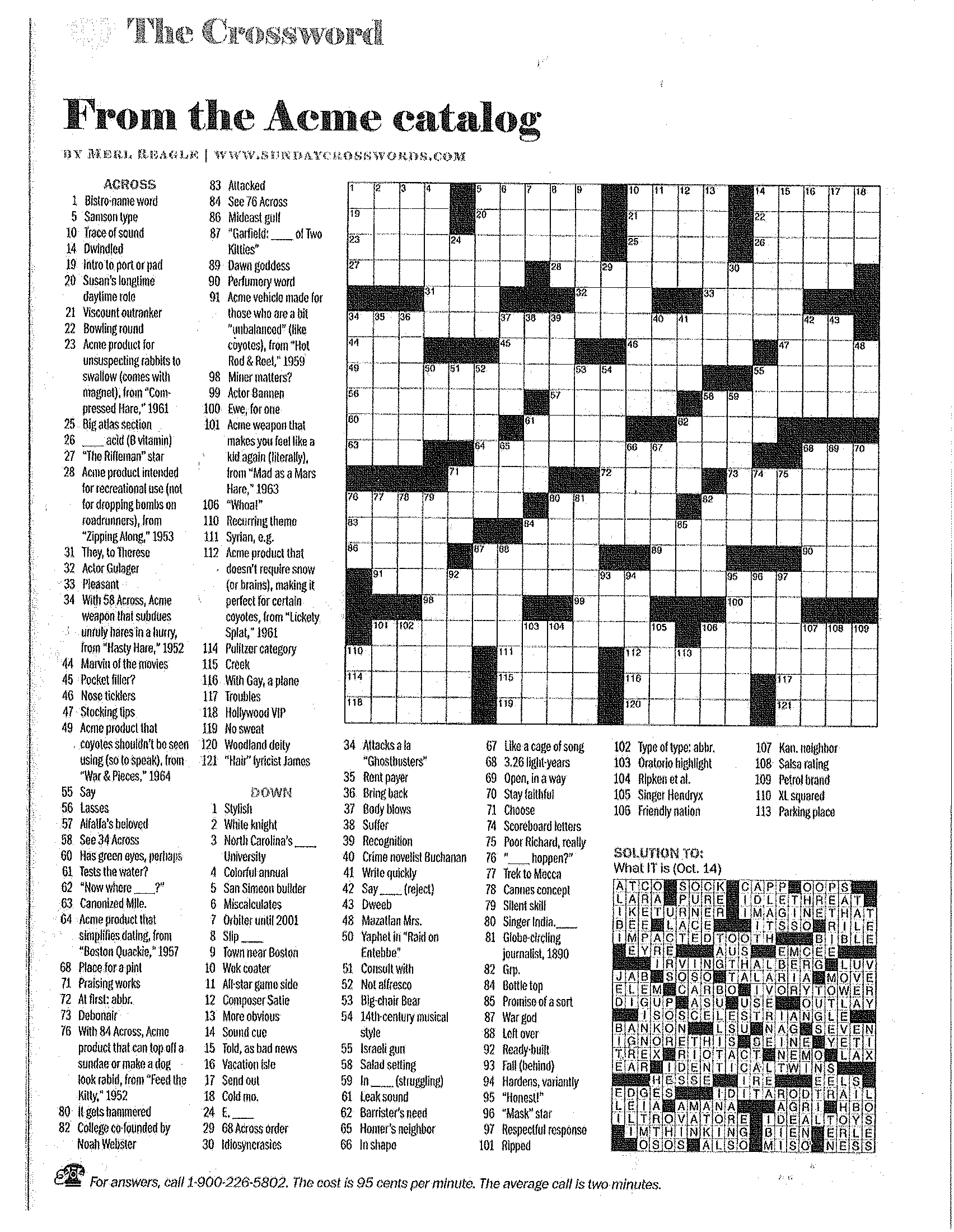 Printable Crossword Puzzles Merl Reagle   Download Them Or Print - Merl Reagle's Sunday Crossword Free Printable