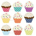 Printable Cupcake Clipart   Free Printable Cupcake Clipart