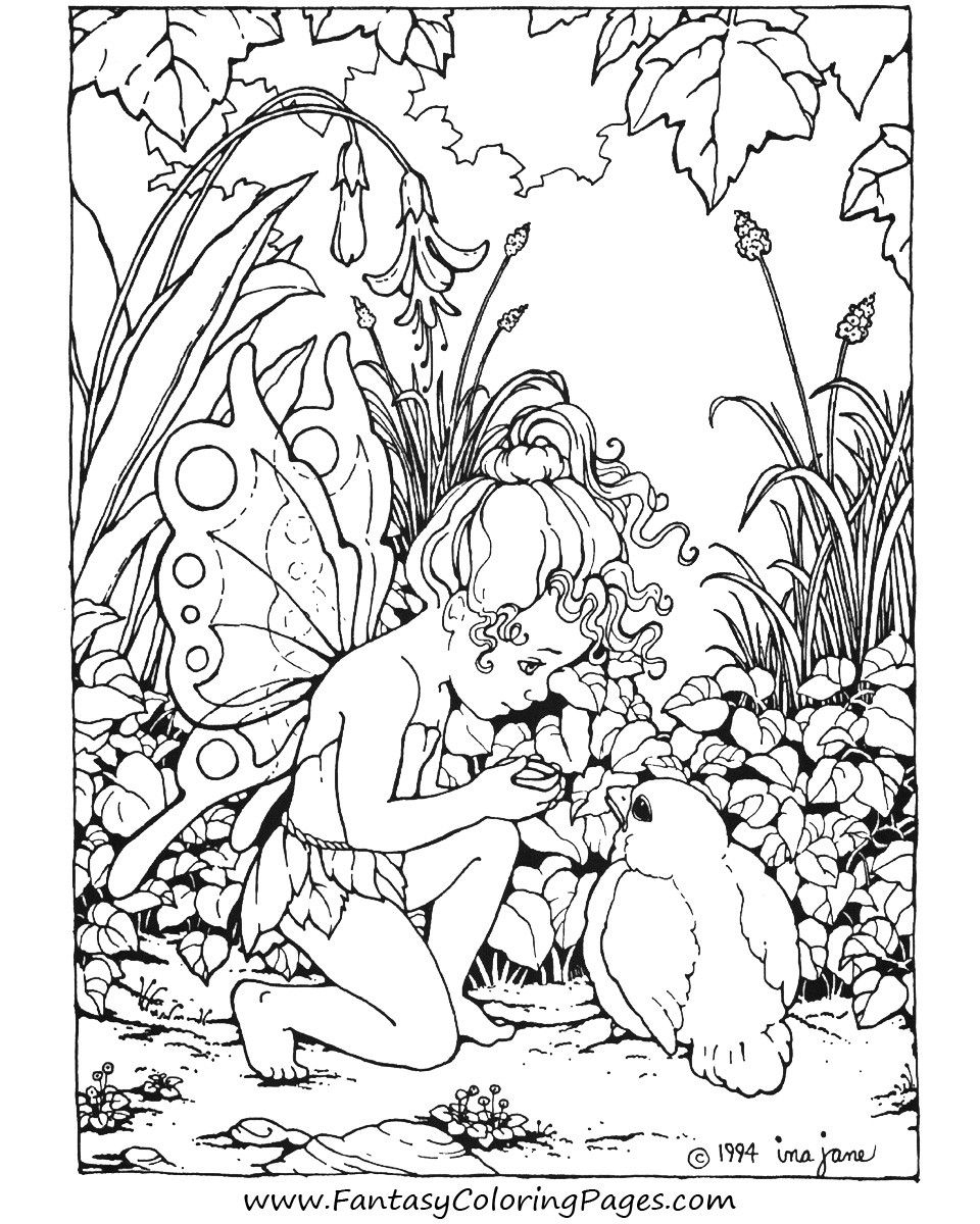Printable Difficult Coloring Pages: Print Free Printable Coloring - Free Printable Coloring Pages Fairies Adults