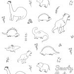 Printable Dinosaur Coloring Page | Smarty Pants Toddler Girl   Free Printable Dinosaur Coloring Pages