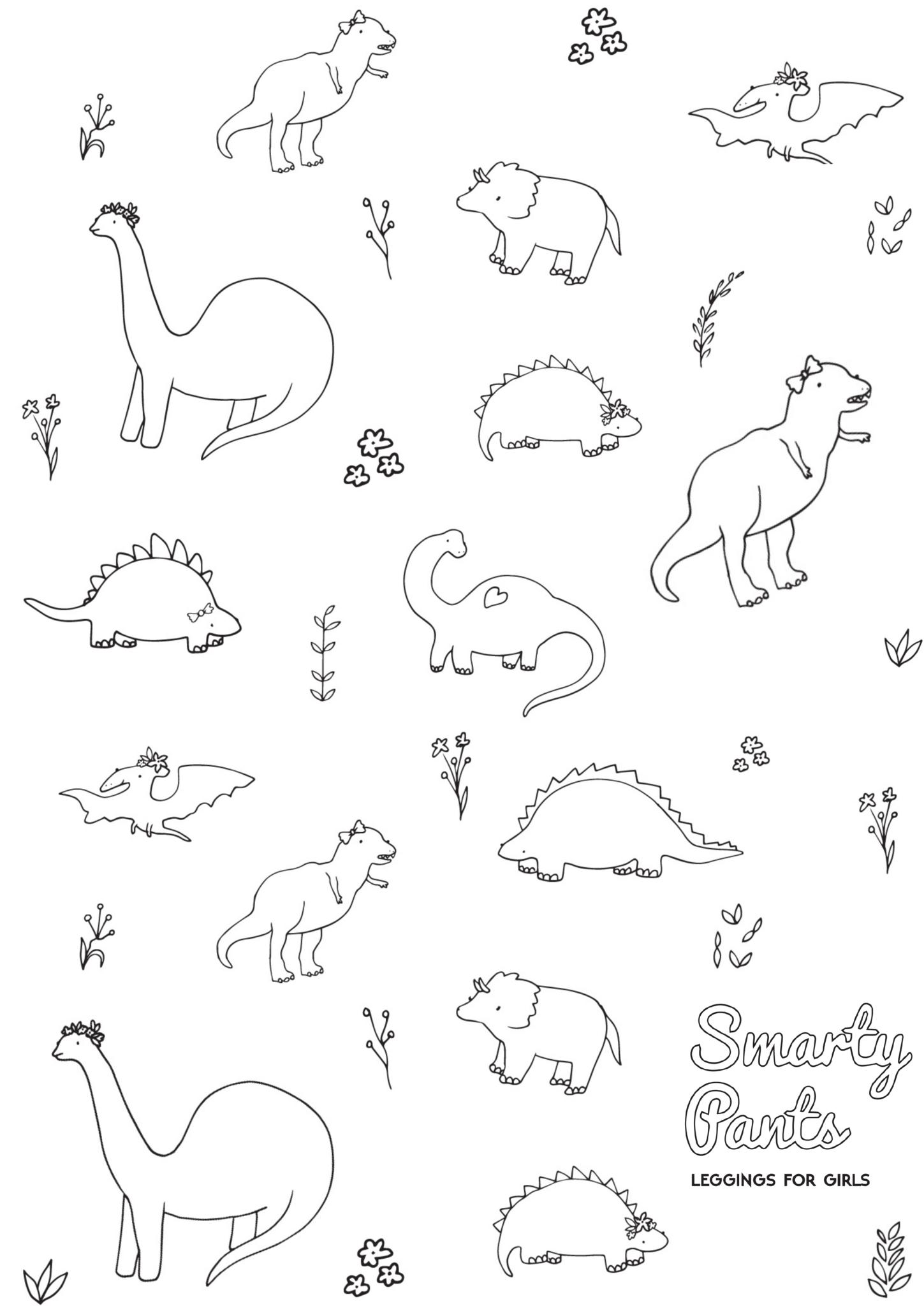 Printable Dinosaur Coloring Page | Smarty Pants Toddler Girl - Free Printable Dinosaur Coloring Pages