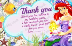 Free Printable Mermaid Thank You Cards