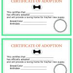 Printable Dog Birth Certificate Fresh Child Adoption Certificate   Free Printable Adoption Certificate