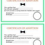 Printable Dog Birth Certificate Fresh Child Adoption Certificate – Free Printable Adoption Certificate