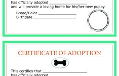 Printable Dog Birth Certificate Fresh Child Adoption Certificate – Free Printable Adoption Certificate