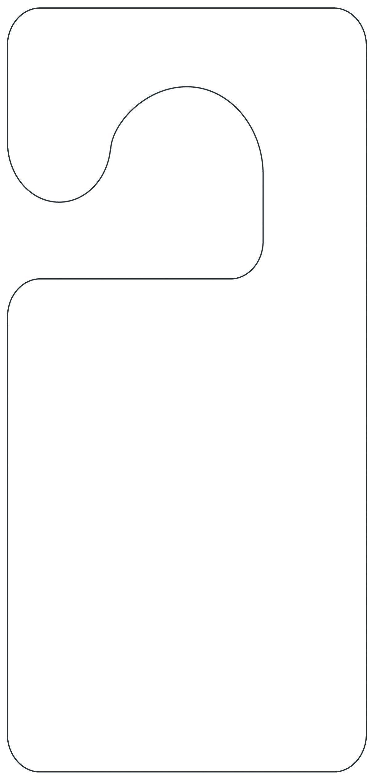 Printable Door Hanger Template | Preschool Ideas | Pinterest - Free Printable Door Hanger Template