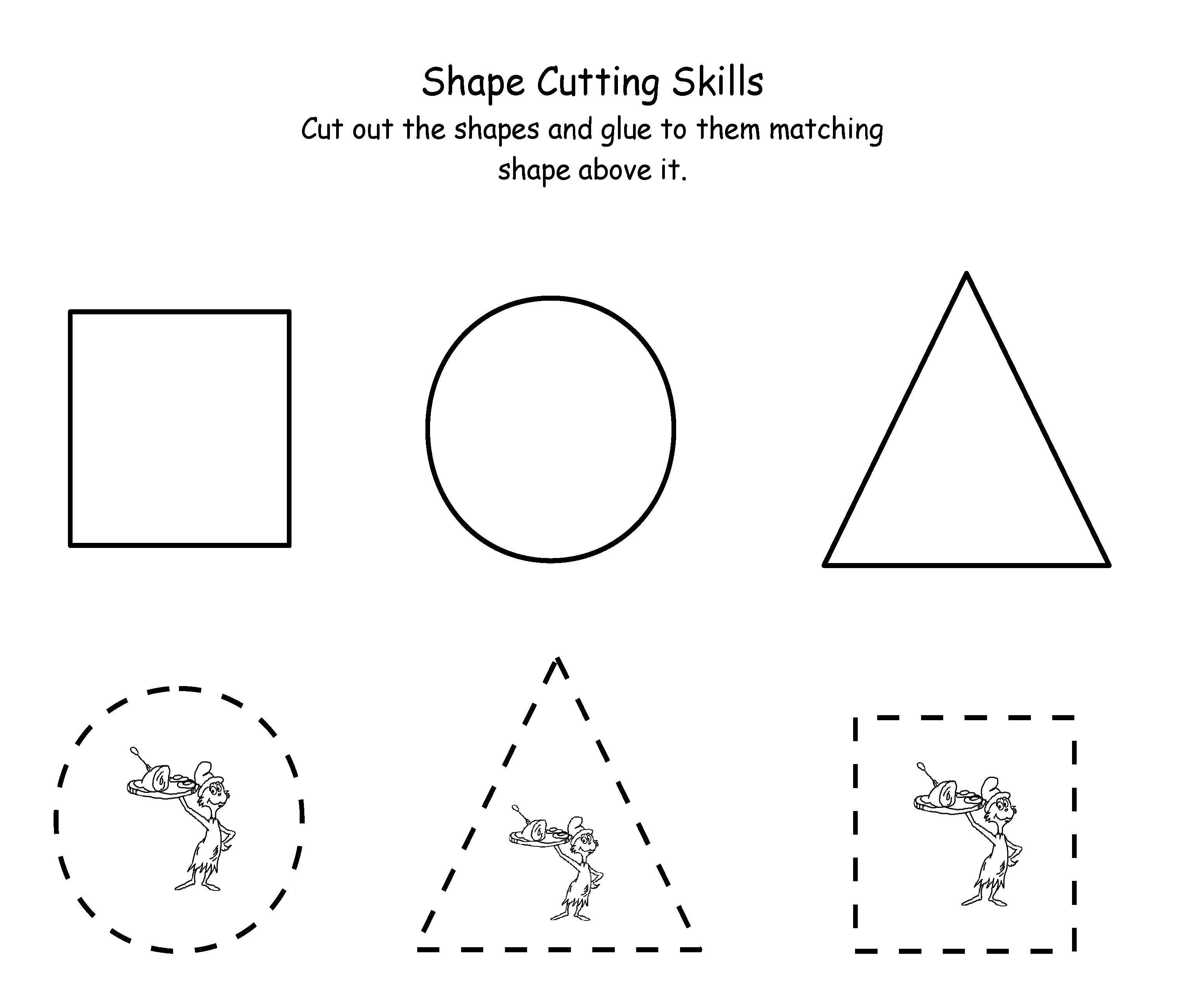 Printable Dr. Seuss Cutting   Maths   Dr Seuss Activities, Dr Seuss - Free Printable Dr Seuss Math Worksheets