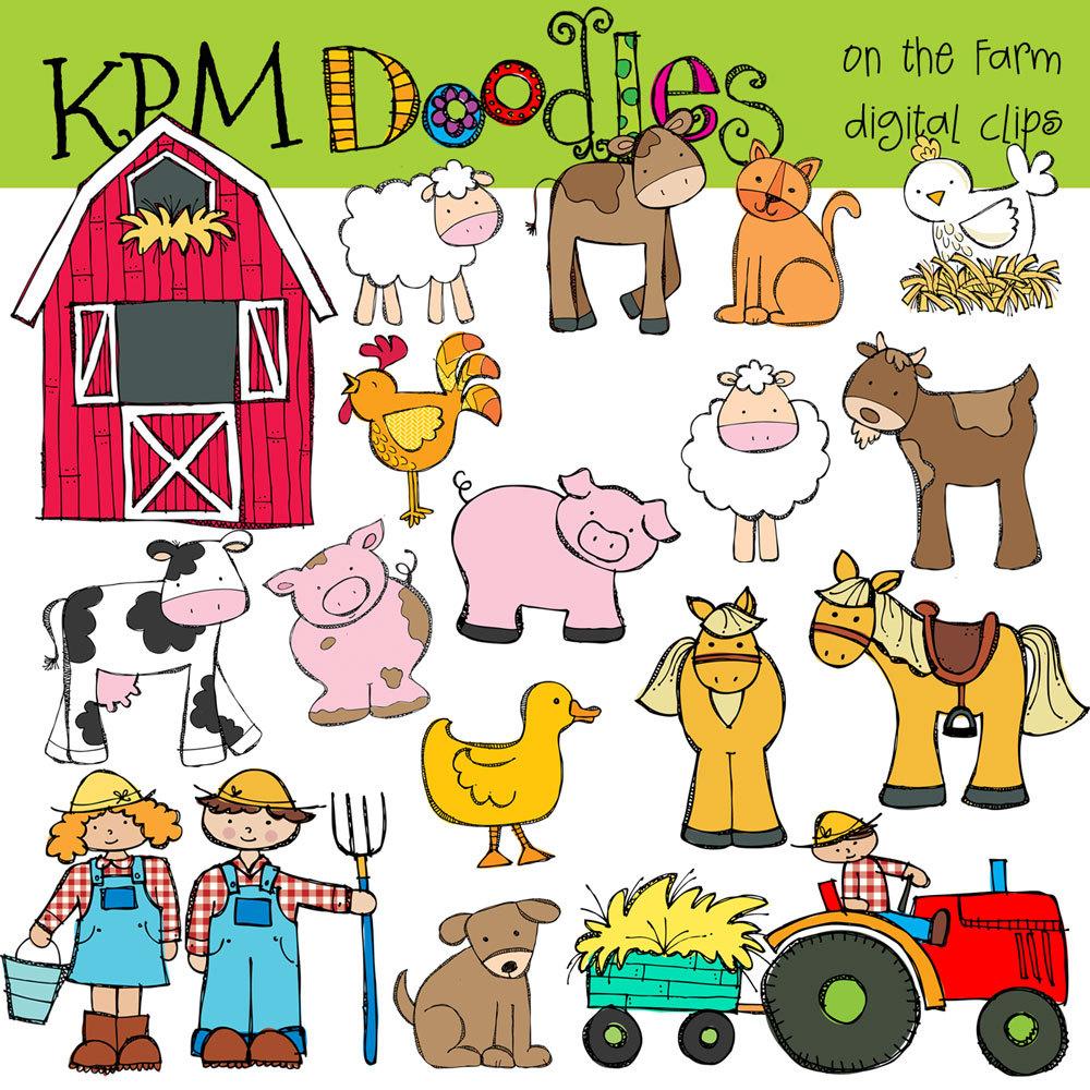 Printable Farm Animals Clipart - Clip Art Library - Free Printable Farm Animal Clipart
