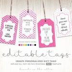 Printable Favor Tags | Polka Dot Labels | Editable Template | Hands – Free Printable Favor Tags