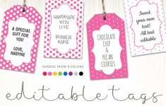 Printable Favor Tags | Polka Dot Labels | Editable Template | Hands – Free Printable Favor Tags