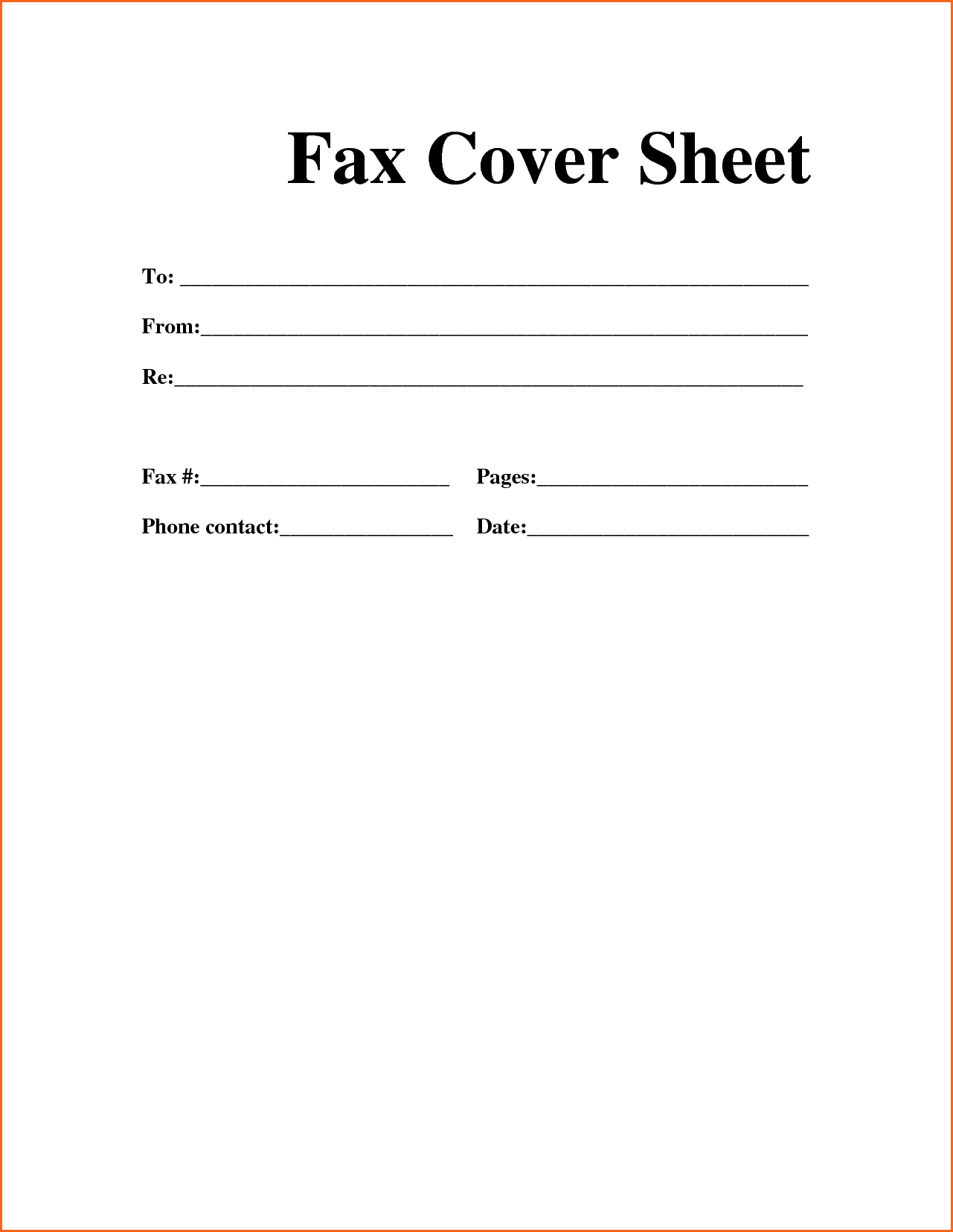 Printable Fax Cover Sheet - Free Fax Cover Sheet Template Printable - Free Printable Fax Cover Sheet