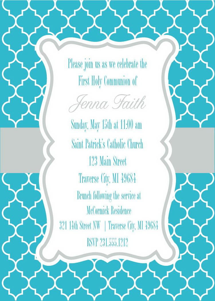 Printable First Communion Invitations - Free Printable 1St Communion Invitations