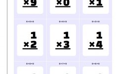 Free Printable Division Flash Cards