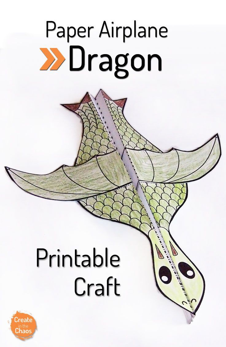 Printable Flying Dragon Craft | Unit Ideas: Medieval Times (Knights - Free Printable Craft Activities