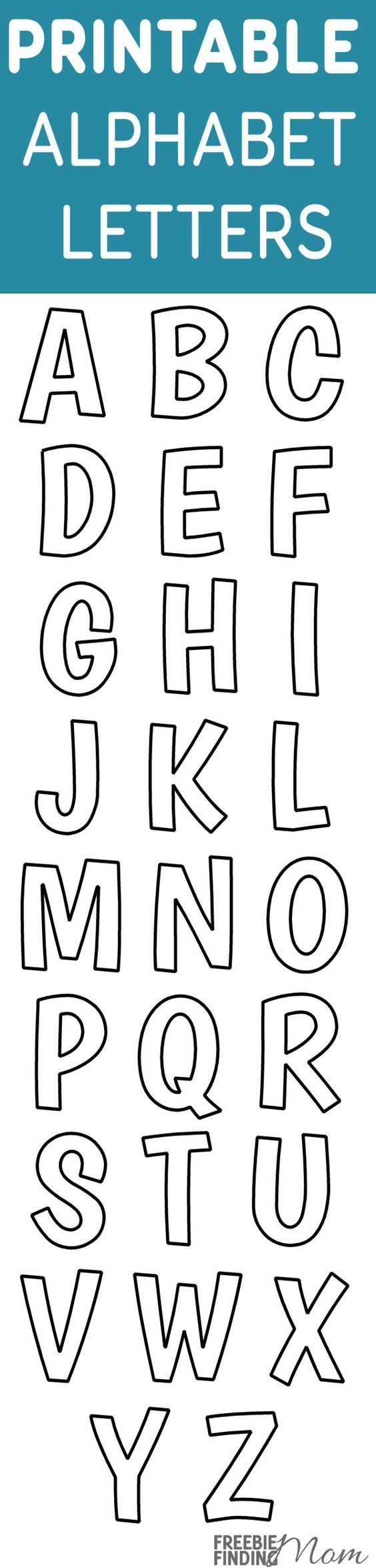 Printable Free Alphabet Templates | The Group Board On Pinterest - Free Printable Letter Stencils