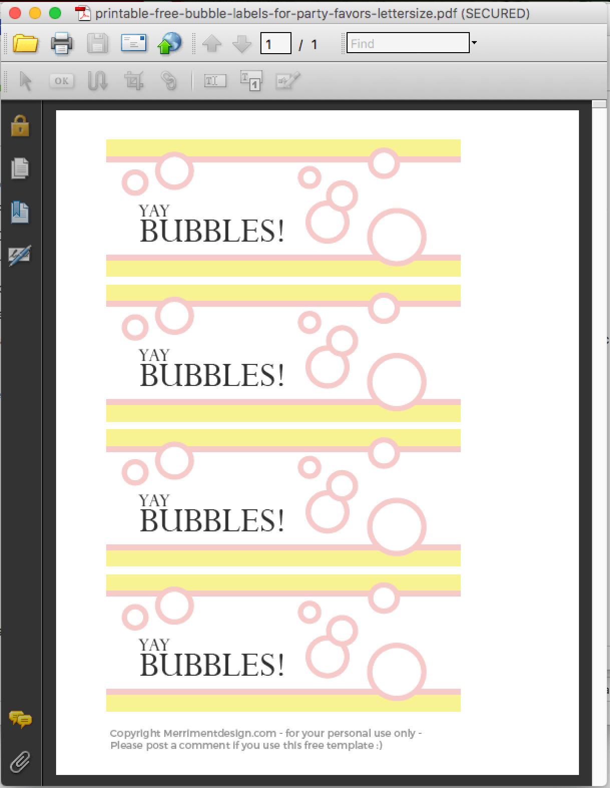 Printable Free Bubble Labels For Party Favors - Merriment Design - Free Printable Gift Tags For Bubbles