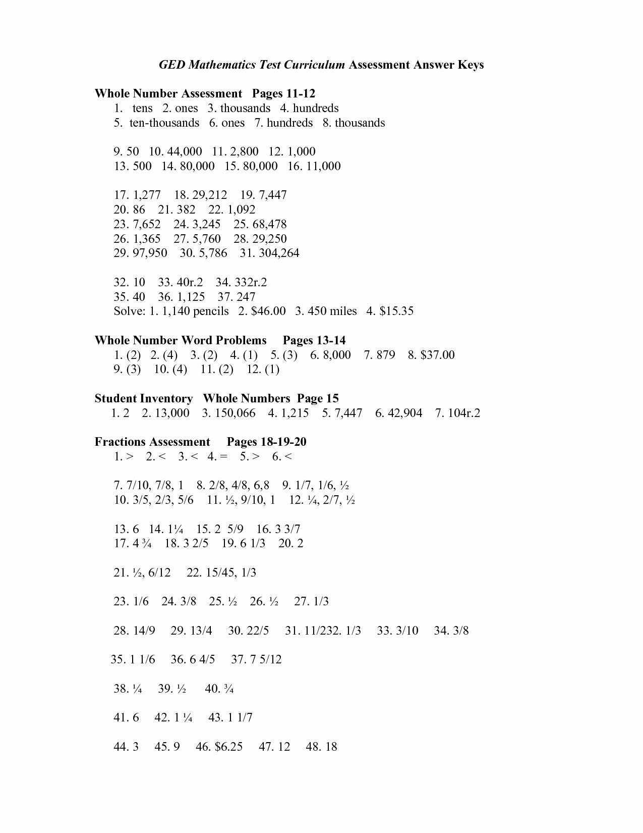 Printable Ged Practice Test – Basecampjonkoping.se - Ged Math Practice Test Free Printable