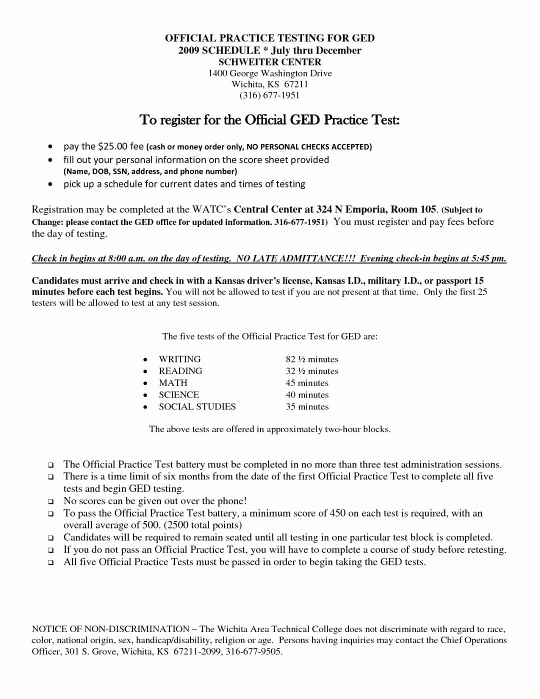 Printable Ged Practice Worksheets Best Of Printable Ged Practice - Free Printable Ged Practice Test