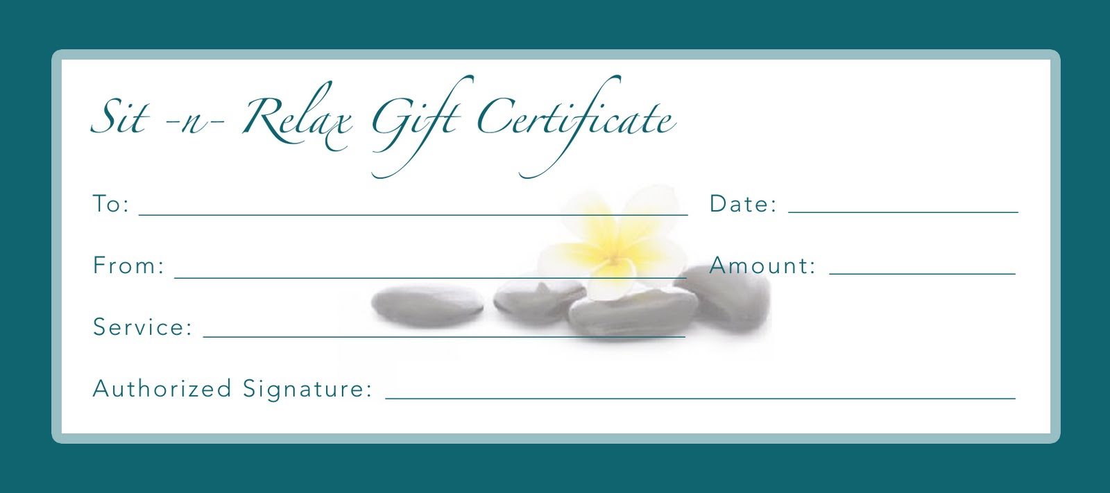 Printable Gift Certificate Template - D-Templates - Free Printable Gift Certificate Templates For Massage