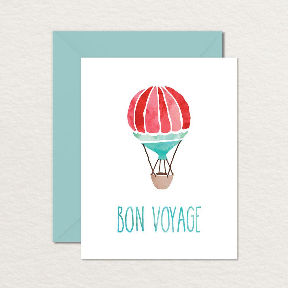Printable Goodbye Farewell Card / Printable Bon Voyage Card | Etsy - Free Printable Goodbye Cards