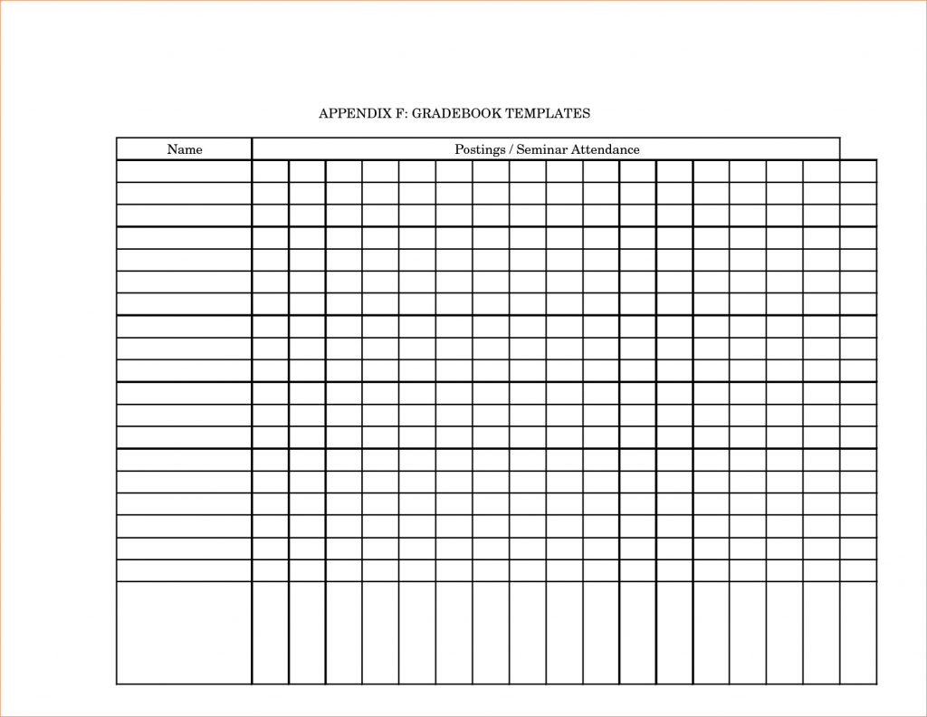 Printable Grade Book Template For Teachers - Southbay Robot Intended - Free Printable Grade Sheet