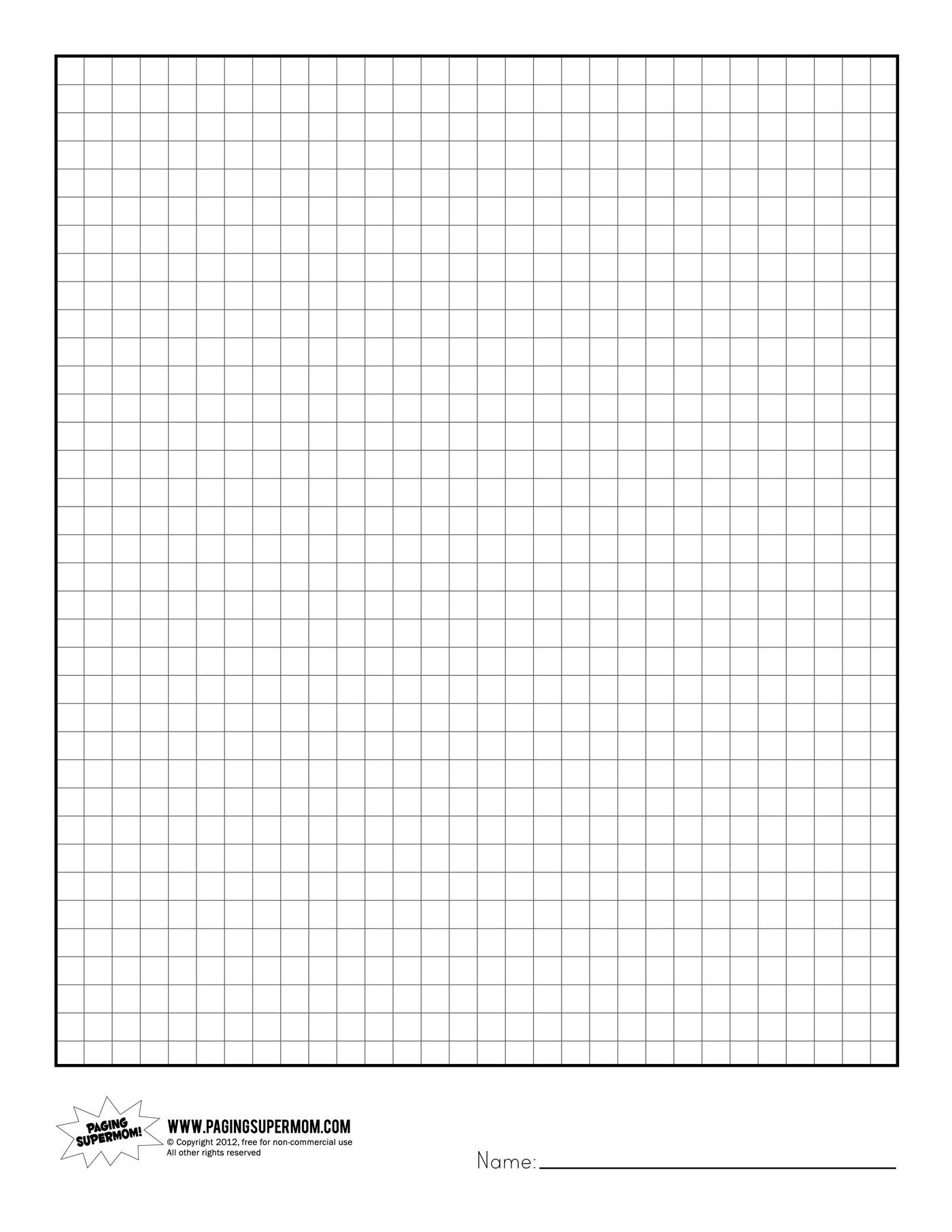 Printable Graph Paper | Healthy Eating | Printable Graph Paper - Half Inch Grid Paper Free Printable