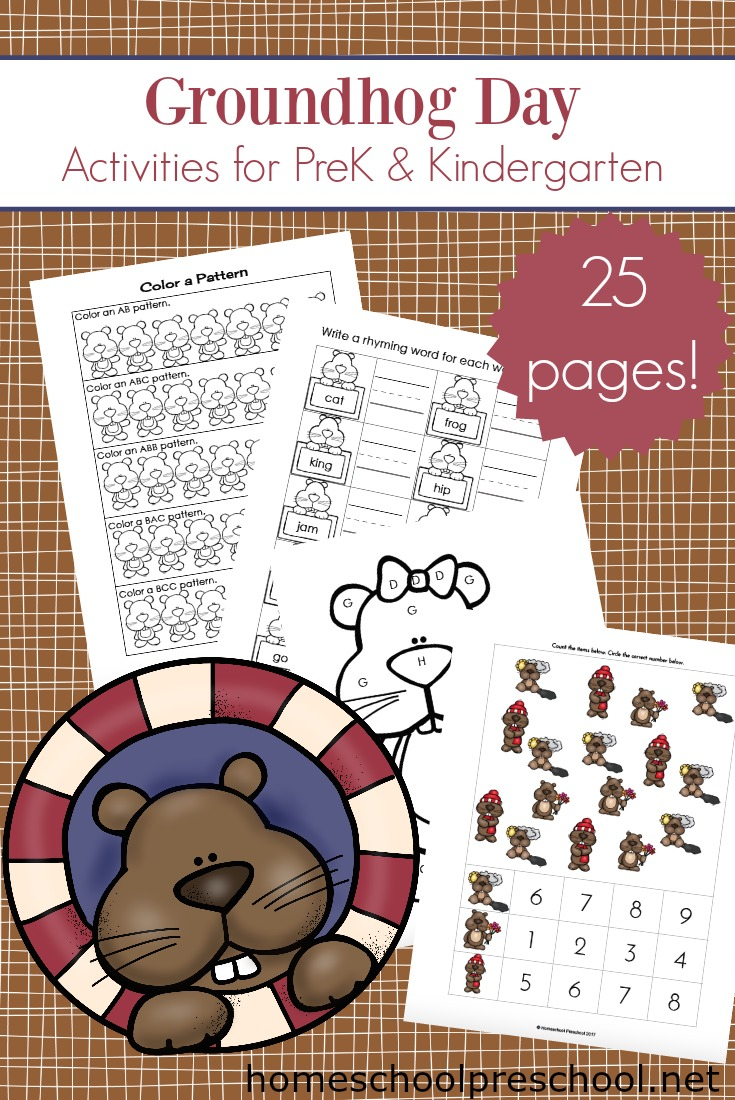 Printable Groundhog Day Activities For Preschoolers - Free Printable Groundhog Day Booklet