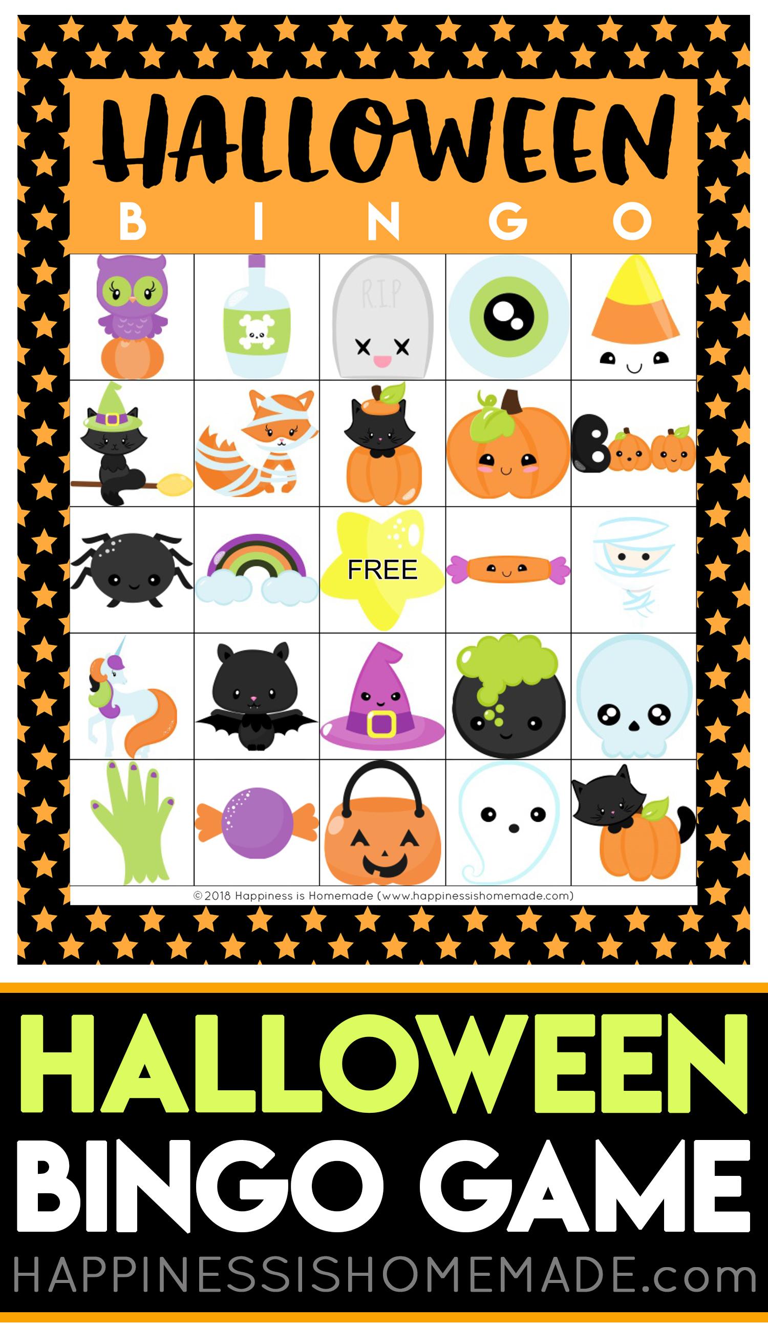 Printable Halloween Bingo Cards - Happiness Is Homemade - Free Printable Halloween Bingo Cards