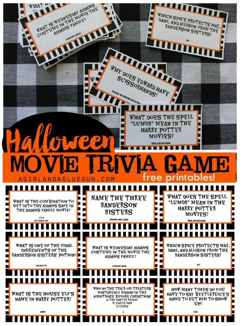 Printable Halloween Movie Trivia Game - 30 Days Of Halloween: Day 24 - Free Printable Trivia Questions For Seniors