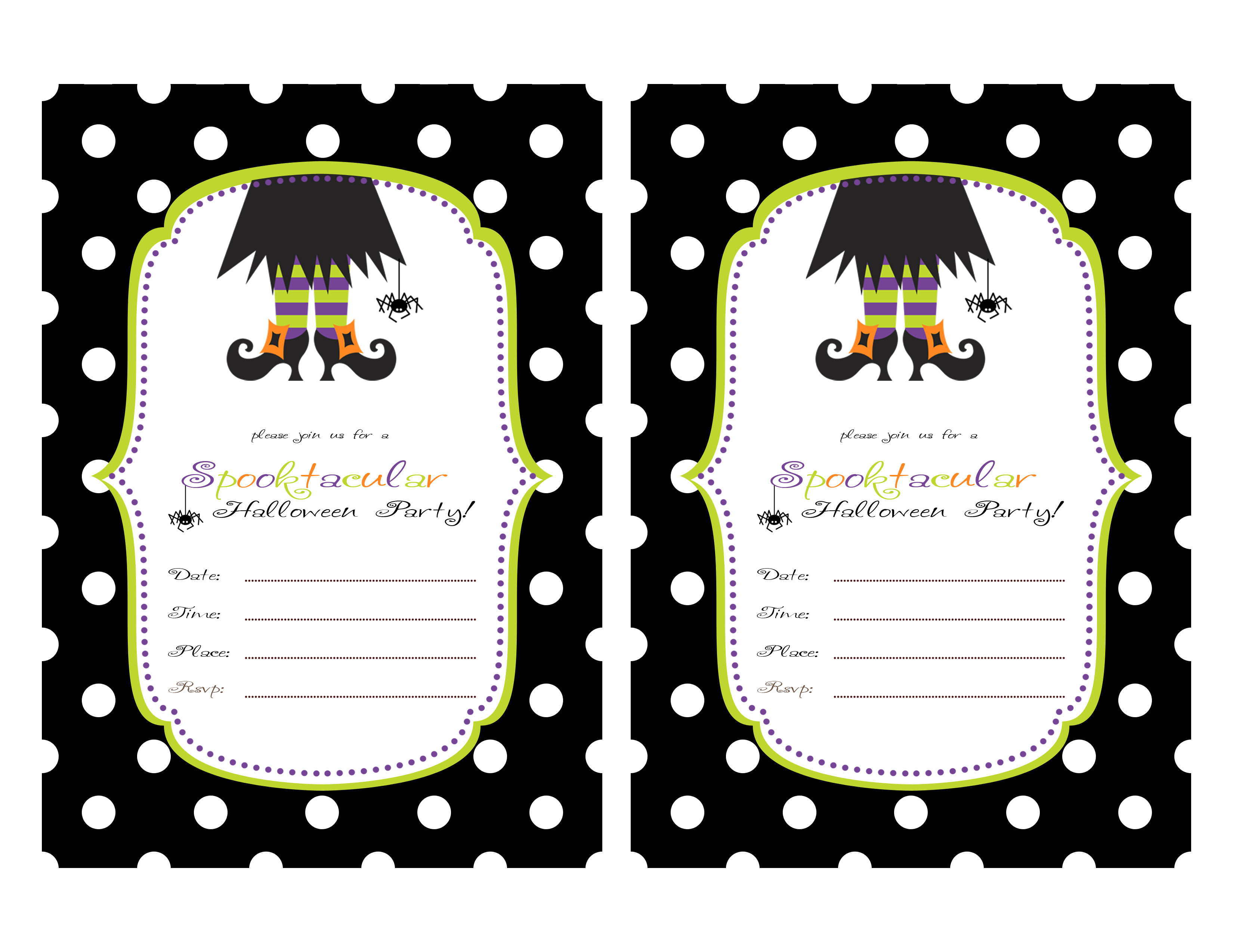 Printable Halloween Party Invitations For Kids 844 Kids Birthday - Free Printable Halloween Birthday Party Invitations