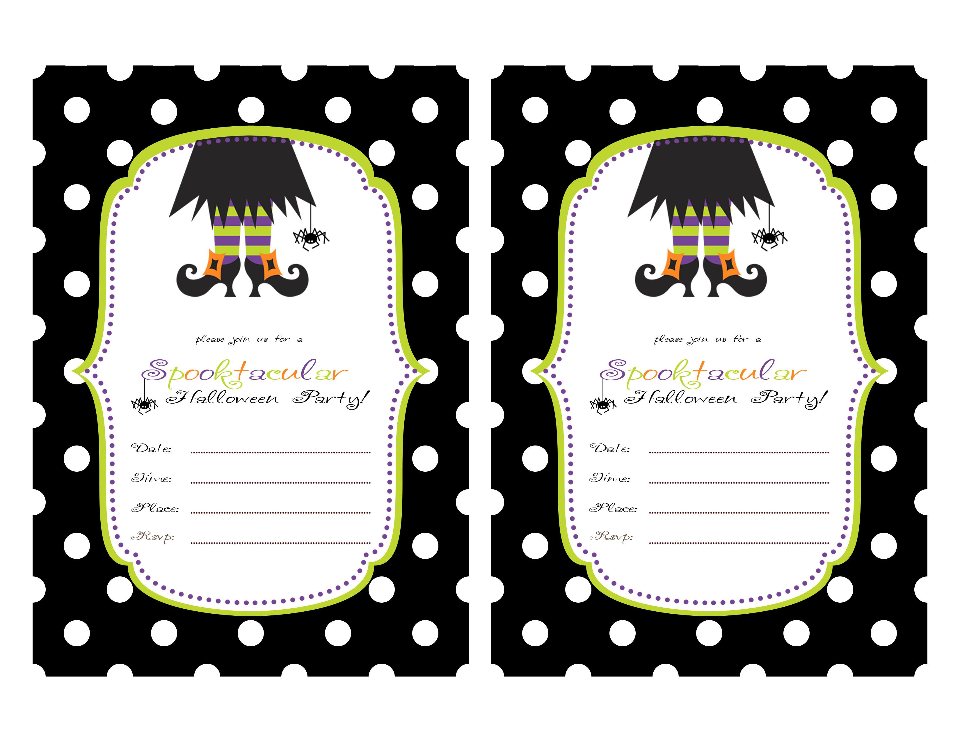 Printable Halloween Party Invitations For Kids 844 Kids Birthday - Halloween Party Invitation Templates Free Printable