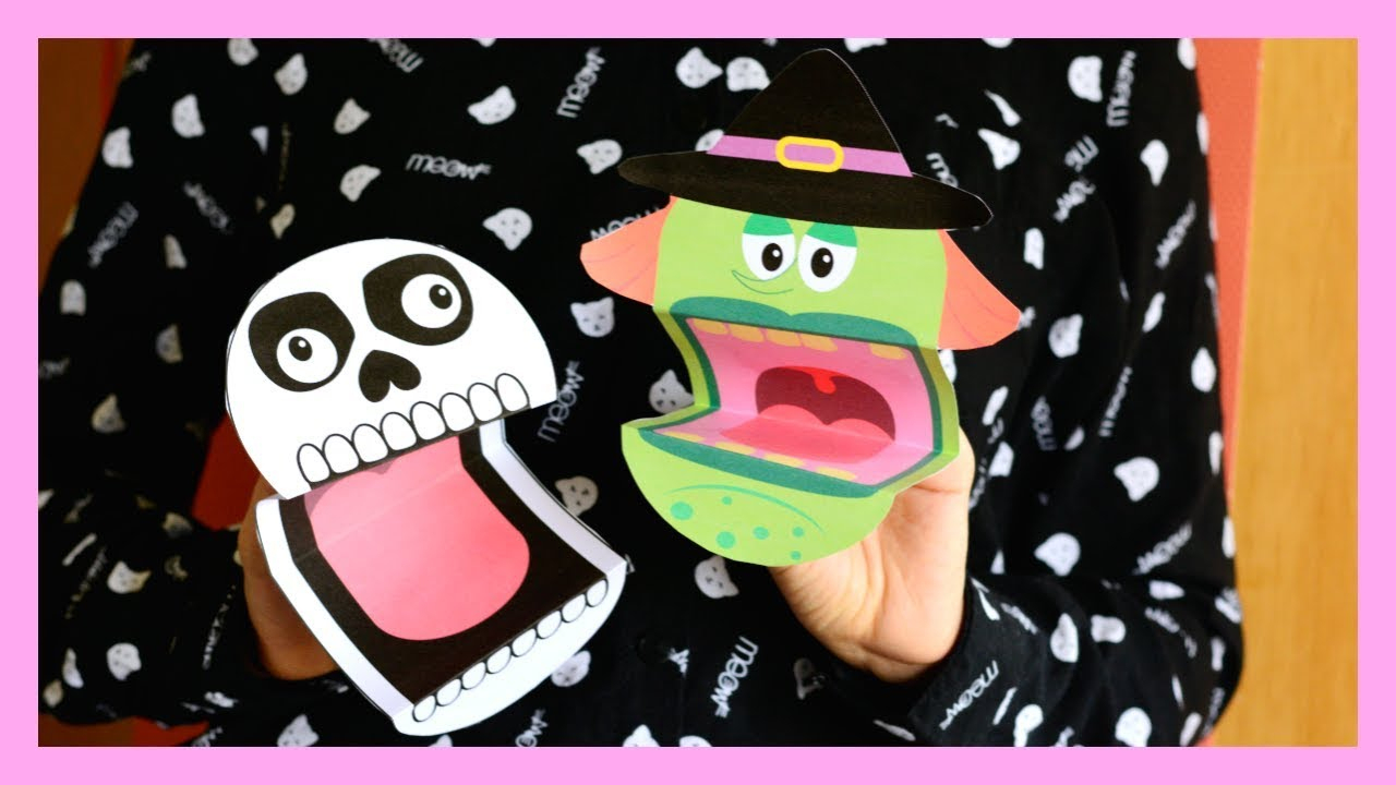 Printable Halloween Puppets - Halloween Crafts For Kids - Youtube - Halloween Crafts For Kids Free Printable