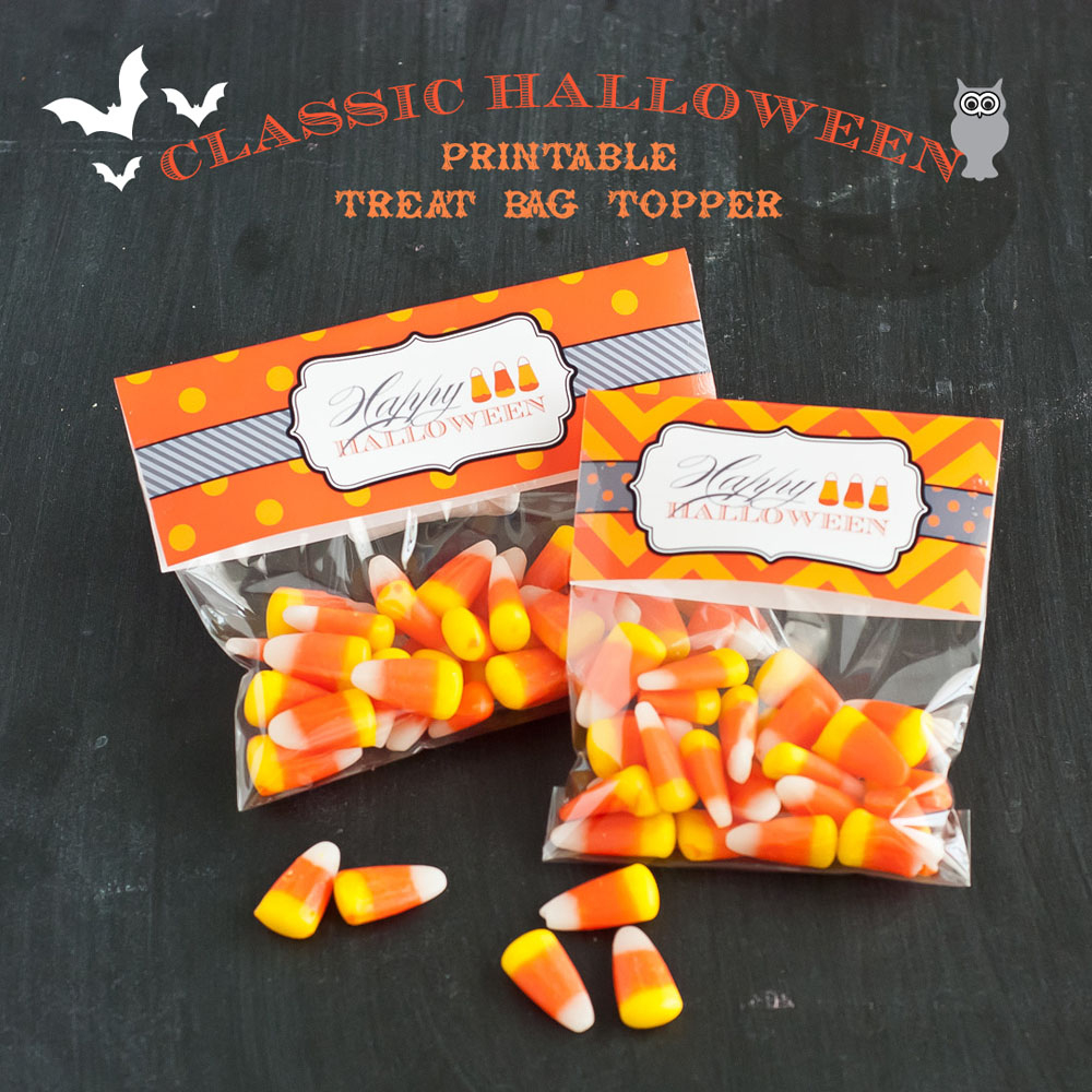 Printable Halloween Treat Bag Toppers Label // Anders Ruff - Free Printable Thanksgiving Treat Bag Toppers