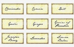 Free Printable Herb Labels