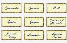 Free Printable Herb Labels