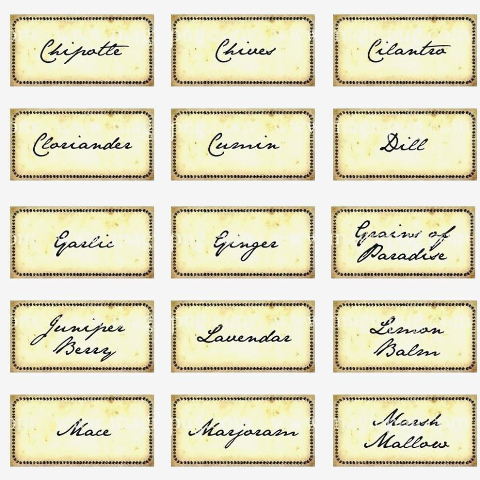Printable: Herb Garden Labels Printable – Herb Labels Printable - Free Printable Herb Labels