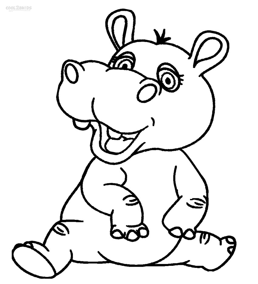 Printable Hippo Coloring Pages For Kids | Cool2Bkids - Free Printable Hippo Coloring Pages