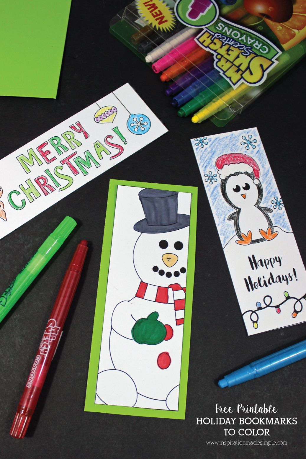 Printable Holiday Bookmarks To Color | Kid Blogger Network - Free Printable Christmas Bookmarks To Color