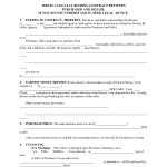 Printable Home Purchase Agreement | Free Printable Purchase - Free Printable Real Estate Contracts