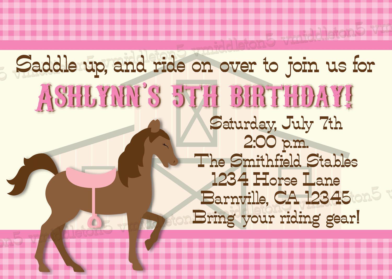 Printable Horse Birthday Party Invitations Free | Home Party Ideas - Free Printable Horse Themed Birthday Party Invitations