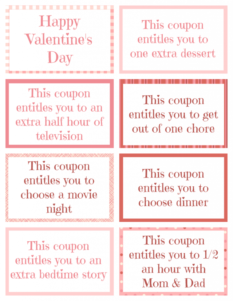Printable Kid Coupons - Free Printable Homemade Coupon Book