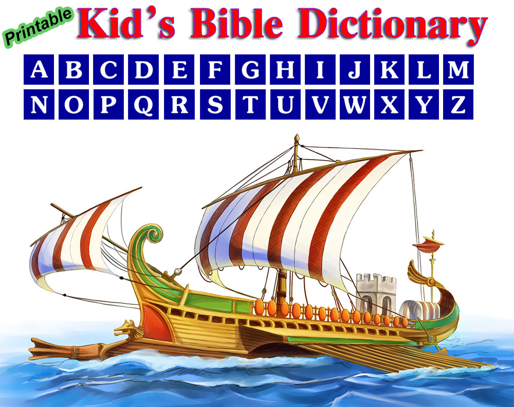 Printable Kids Bible Dictionary - Free Printable Picture Dictionary For Kids