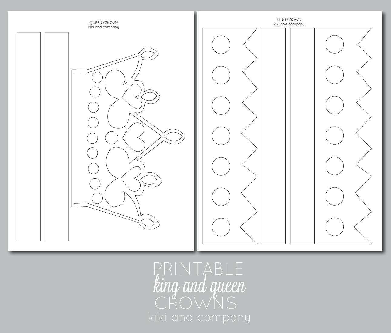 Printable Kings And Queens Crown {Free Printable} | Sofia Birthday - Free Printable King Crown Template